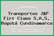 Transportes J&P Firt Class S.A.S. Bogotá Cundinamarca