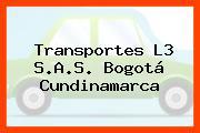 Transportes L3 S.A.S. Bogotá Cundinamarca