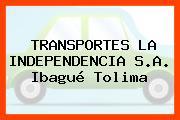 TRANSPORTES LA INDEPENDENCIA S.A. Ibagué Tolima