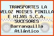 Transportes La Veloz, Moises Pinilla E Hijas S.C.A. Sucesores Barranquilla Atlántico