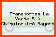 Transportes La Verde S A Chiquinquirá Boyacá