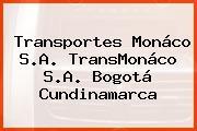 Transportes Monáco S.A. TransMonáco S.A. Bogotá Cundinamarca