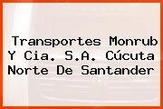 Transportes Monrub Y Cia. S.A. Cúcuta Norte De Santander