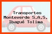 Transportes Monteverde S.A.S. Ibagué Tolima