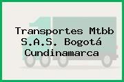 Transportes Mtbb S.A.S. Bogotá Cundinamarca