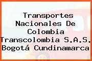 Transportes Nacionales De Colombia Transcolombia S.A.S. Bogotá Cundinamarca