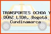 TRANSPORTES OCHOA Y DÚAZ LTDA. Bogotá Cundinamarca