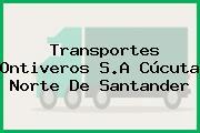 Transportes Ontiveros S.A Cúcuta Norte De Santander