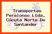 Transportes Peralonso Ltda. Cúcuta Norte De Santander