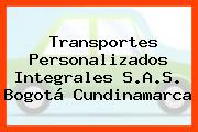 Transportes Personalizados Integrales S.A.S. Bogotá Cundinamarca