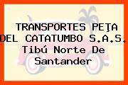 TRANSPORTES PEÞA DEL CATATUMBO S.A.S. Tibú Norte De Santander