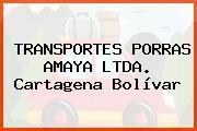 TRANSPORTES PORRAS AMAYA LTDA. Cartagena Bolívar