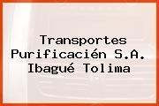 Transportes Purificacién S.A. Ibagué Tolima