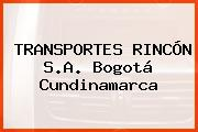 TRANSPORTES RINCÓN S.A. Bogotá Cundinamarca