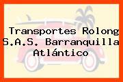 Transportes Rolong S.A.S. Barranquilla Atlántico