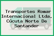 Transportes Romar Internacional Ltda. Cúcuta Norte De Santander