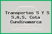 Transportes S Y S S.A.S. Cota Cundinamarca