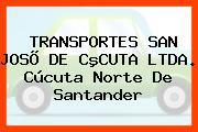 TRANSPORTES SAN JOSÕ DE CºCUTA LTDA. Cúcuta Norte De Santander