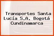 Transportes Santa Lucía S.A. Bogotá Cundinamarca
