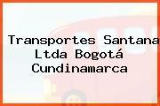Transportes Santana Ltda Bogotá Cundinamarca