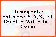 Transportes Sotrance S.A.S. El Cerrito Valle Del Cauca