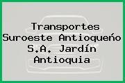Transportes Suroeste Antioqueño S.A. Jardín Antioquia