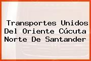 Transportes Unidos Del Oriente Cúcuta Norte De Santander