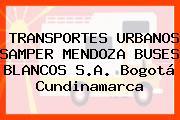 TRANSPORTES URBANOS SAMPER MENDOZA BUSES BLANCOS S.A. Bogotá Cundinamarca