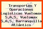 Transportes Y Operaciones Logisticas Vuelomax S.A.S. Vuelomax S.A.S. Barranquilla Atlántico