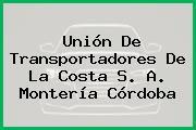 Unión De Transportadores De La Costa S. A. Montería Córdoba