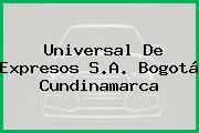 Universal De Expresos S.A. Bogotá Cundinamarca