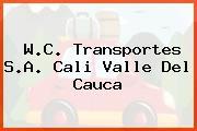 W.C. Transportes S.A. Cali Valle Del Cauca