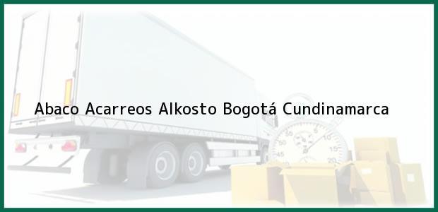 Teléfono, Dirección y otros datos de contacto para Abaco Acarreos Alkosto, Bogotá, Cundinamarca, Colombia