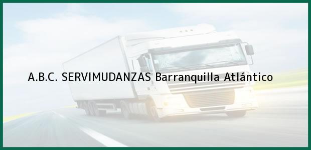 Teléfono, Dirección y otros datos de contacto para A.B.C. SERVIMUDANZAS, Barranquilla, Atlántico, Colombia