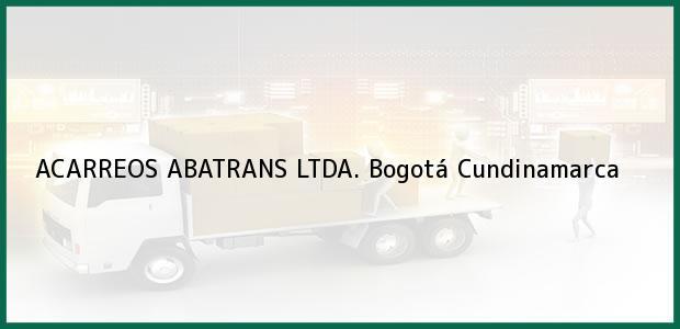 Teléfono, Dirección y otros datos de contacto para ACARREOS ABATRANS LTDA., Bogotá, Cundinamarca, Colombia