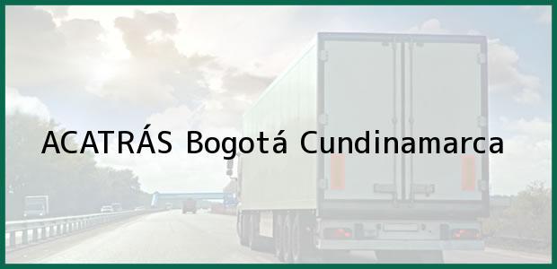 Teléfono, Dirección y otros datos de contacto para ACATRÁS, Bogotá, Cundinamarca, Colombia
