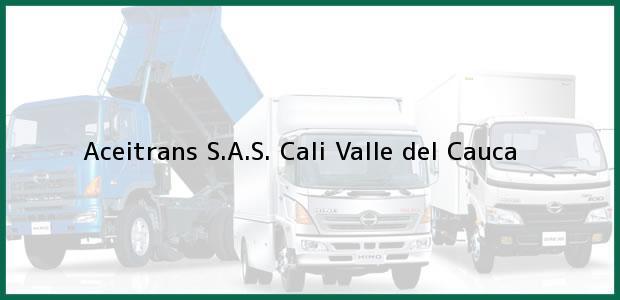 Teléfono, Dirección y otros datos de contacto para Aceitrans S.A.S., Cali, Valle del Cauca, Colombia