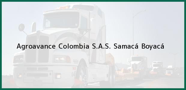 Teléfono, Dirección y otros datos de contacto para Agroavance Colombia S.A.S., Samacá, Boyacá, Colombia
