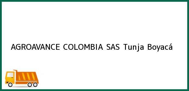 Teléfono, Dirección y otros datos de contacto para AGROAVANCE COLOMBIA SAS, Tunja, Boyacá, Colombia