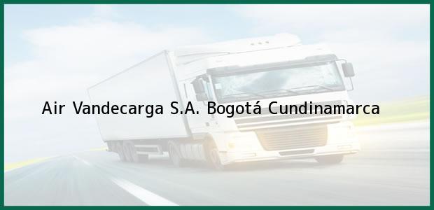 Teléfono, Dirección y otros datos de contacto para Air Vandecarga S.A., Bogotá, Cundinamarca, Colombia
