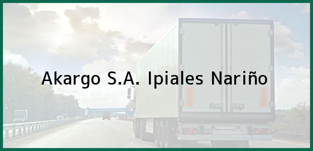 Teléfono, Dirección y otros datos de contacto para Akargo S.A., Ipiales, Nariño, Colombia