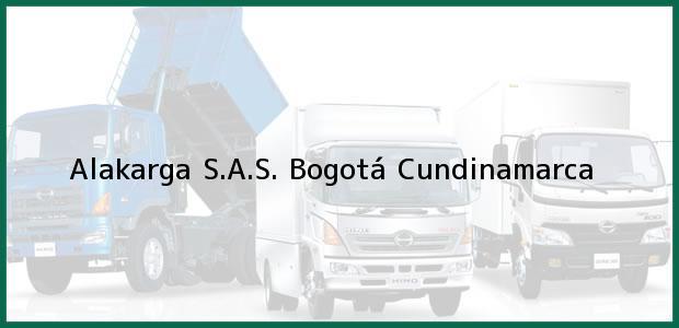 Teléfono, Dirección y otros datos de contacto para Alakarga S.A.S., Bogotá, Cundinamarca, Colombia