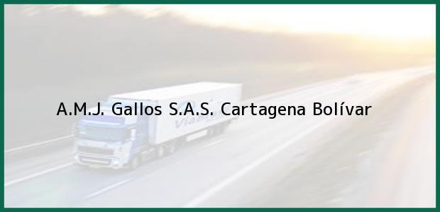 Teléfono, Dirección y otros datos de contacto para A.M.J. Gallos S.A.S., Cartagena, Bolívar, Colombia