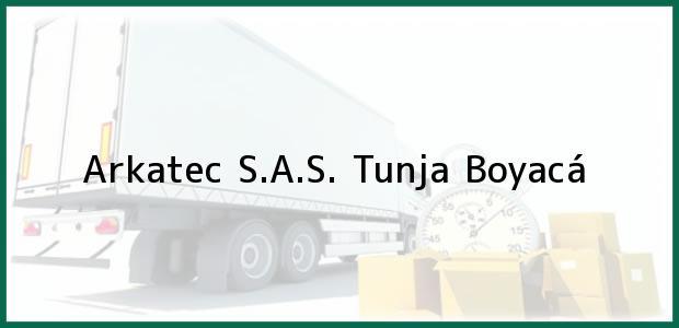 Teléfono, Dirección y otros datos de contacto para Arkatec S.A.S., Tunja, Boyacá, Colombia