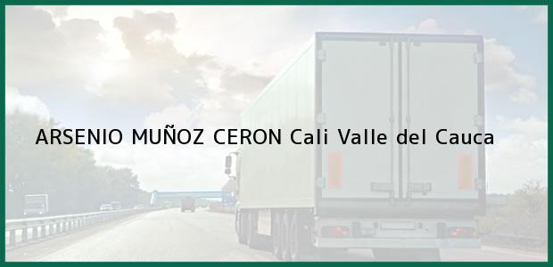 Teléfono, Dirección y otros datos de contacto para ARSENIO MUÑOZ CERON, Cali, Valle del Cauca, Colombia