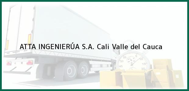 Teléfono, Dirección y otros datos de contacto para ATTA INGENIERÚA S.A., Cali, Valle del Cauca, Colombia