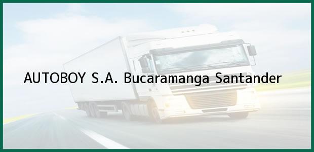 Teléfono, Dirección y otros datos de contacto para AUTOBOY S.A., Bucaramanga, Santander, Colombia