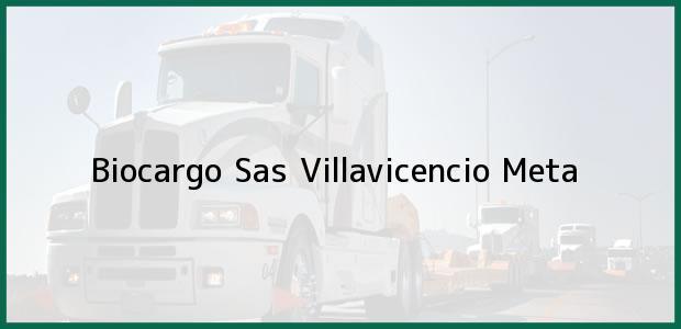 Teléfono, Dirección y otros datos de contacto para Biocargo Sas, Villavicencio, Meta, Colombia