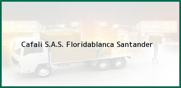 Teléfono, Dirección y otros datos de contacto para Cafali S.A.S., Floridablanca, Santander, Colombia