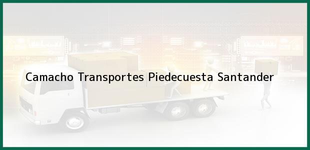 Teléfono, Dirección y otros datos de contacto para Camacho Transportes, Piedecuesta, Santander, Colombia